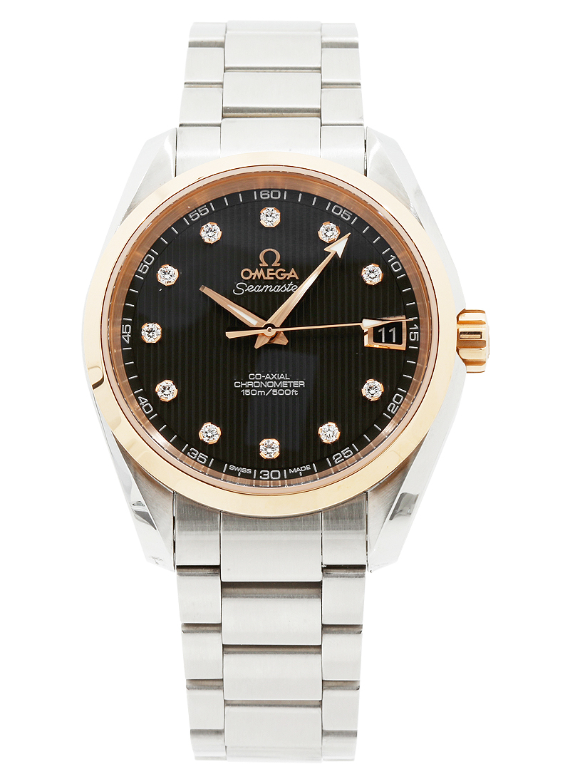 Omega Aqua Terra 2-Tone in Steel with Rose Gold Bezel