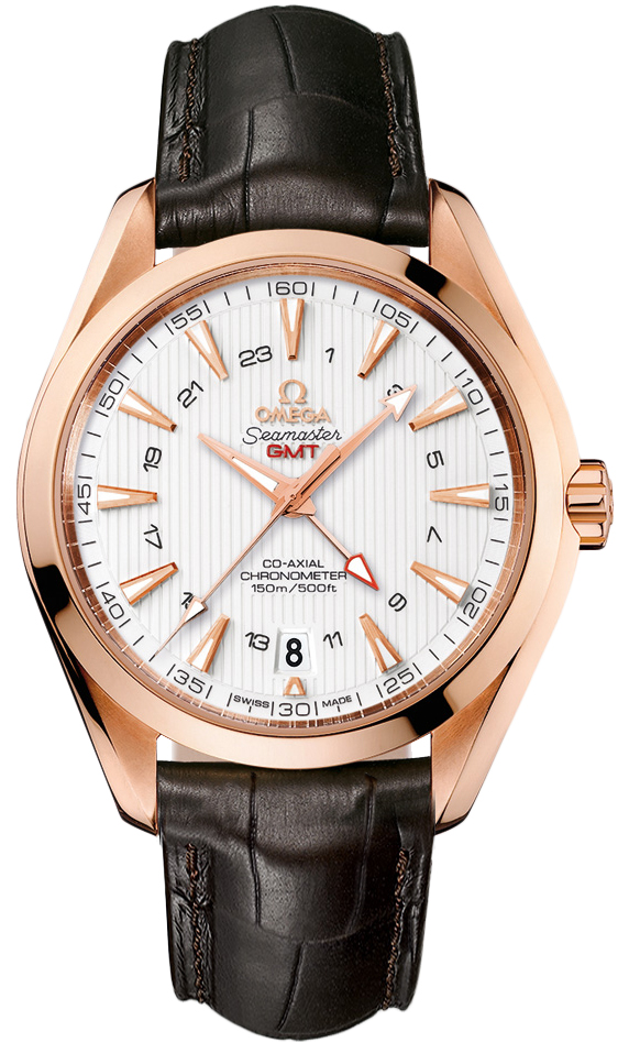 Omega Aqua Terra 43mm GMT in Rose Gold