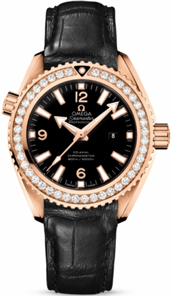Omega Seamaster Planet Ocean  in Rose Gold with Diamond Bezel