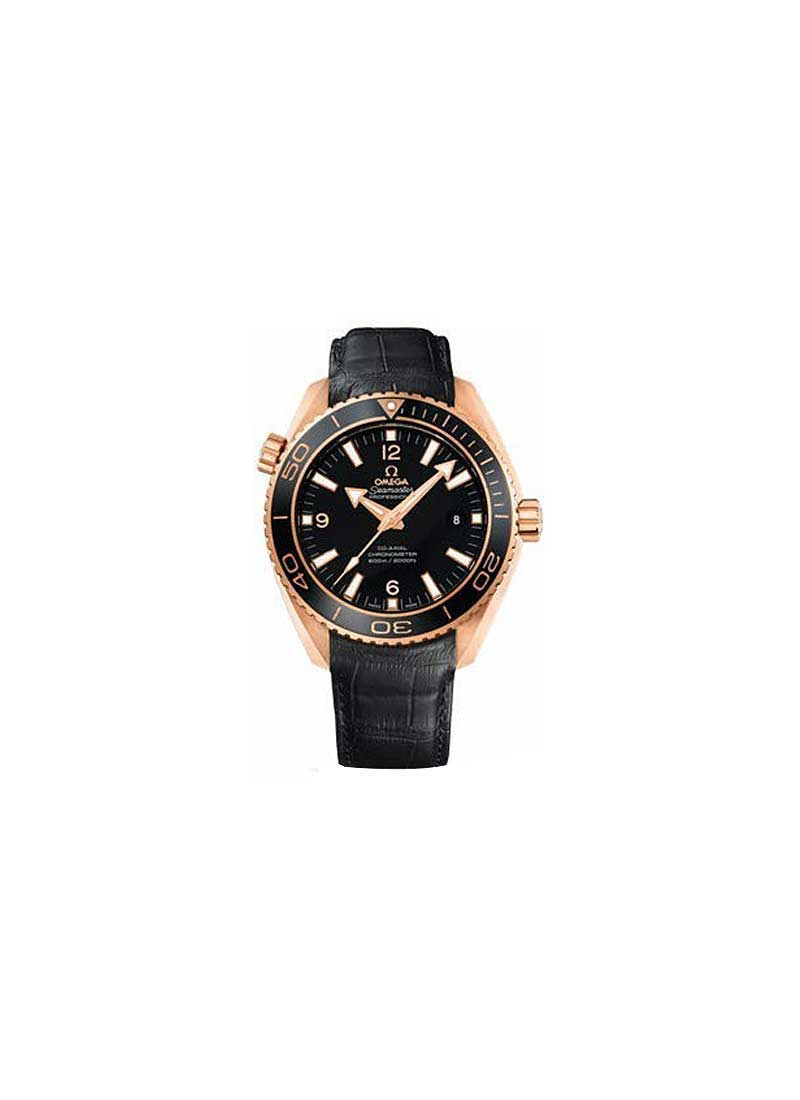 Omega Seamaster Planet Ocean 45.5mm Automatic in Rose Gold with Black Bezel
