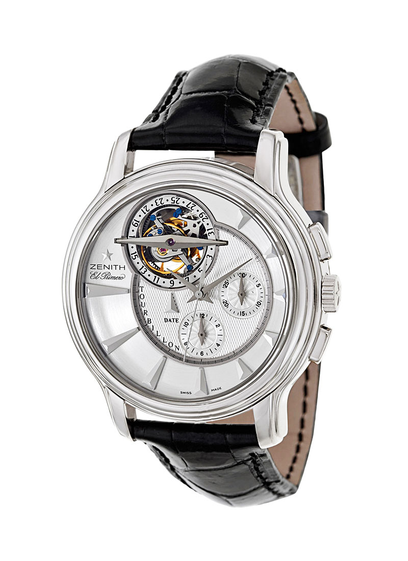 Zenith Academy Tourbillon Chronograph in White Gold