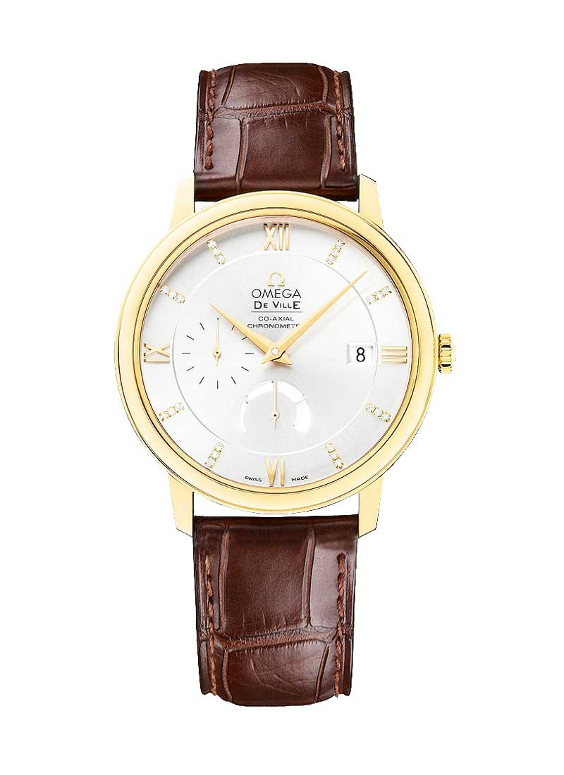 Omega De Ville Prestige Power Reserve in Yellow Gold