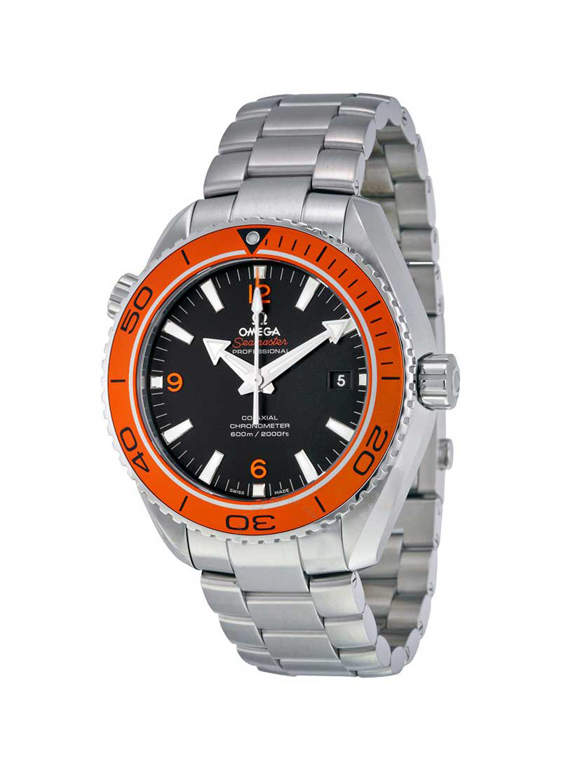 Omega Seamaster Planet Ocean Big Size in Steel with Orange Bezel