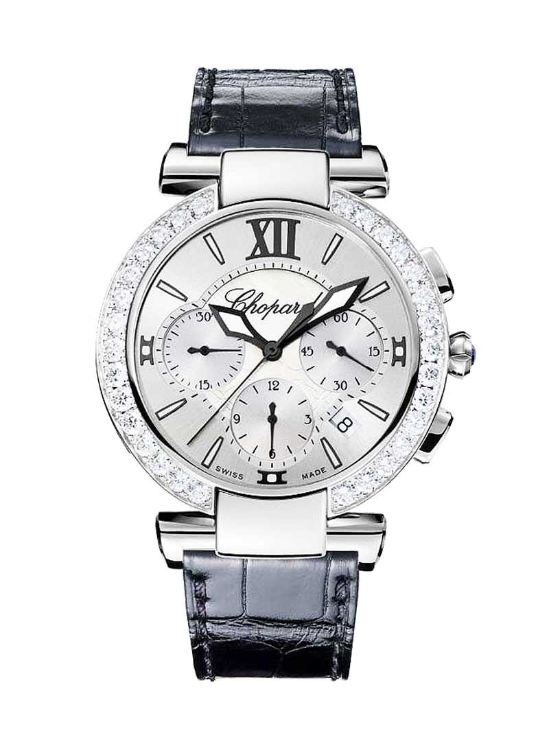 Chopard Imperiale Chronograph in Steel with Diamond Bezel
