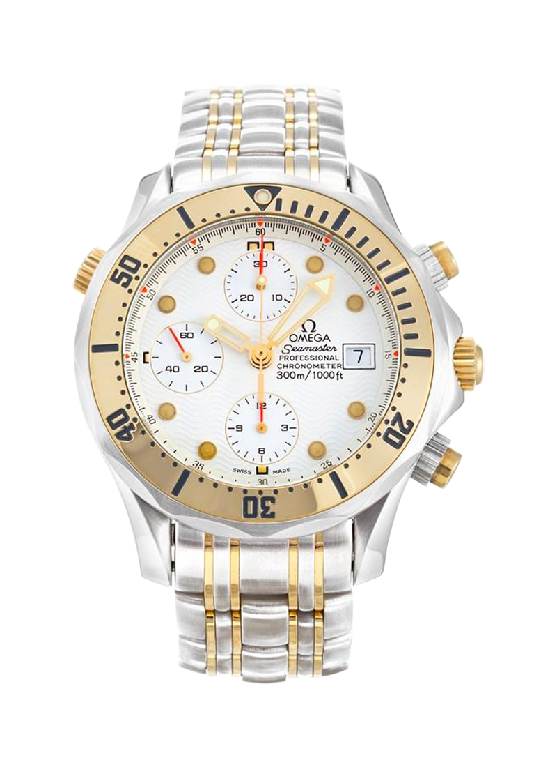 Omega Seamaster Diver 300M Automatic Chronograph in Steel with Yellow Gold Bezel