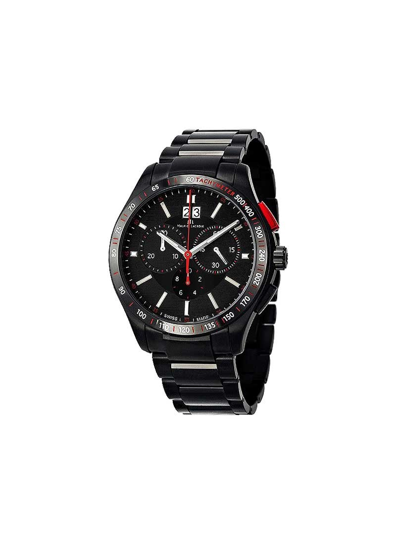 Maurice Lacroix Miros Quartz Chronograph Men''s in Black Steel