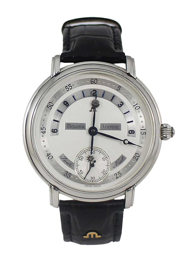 Maurice Lacroix Masterpiece Jour Et Nuit Men's Manual in Steel