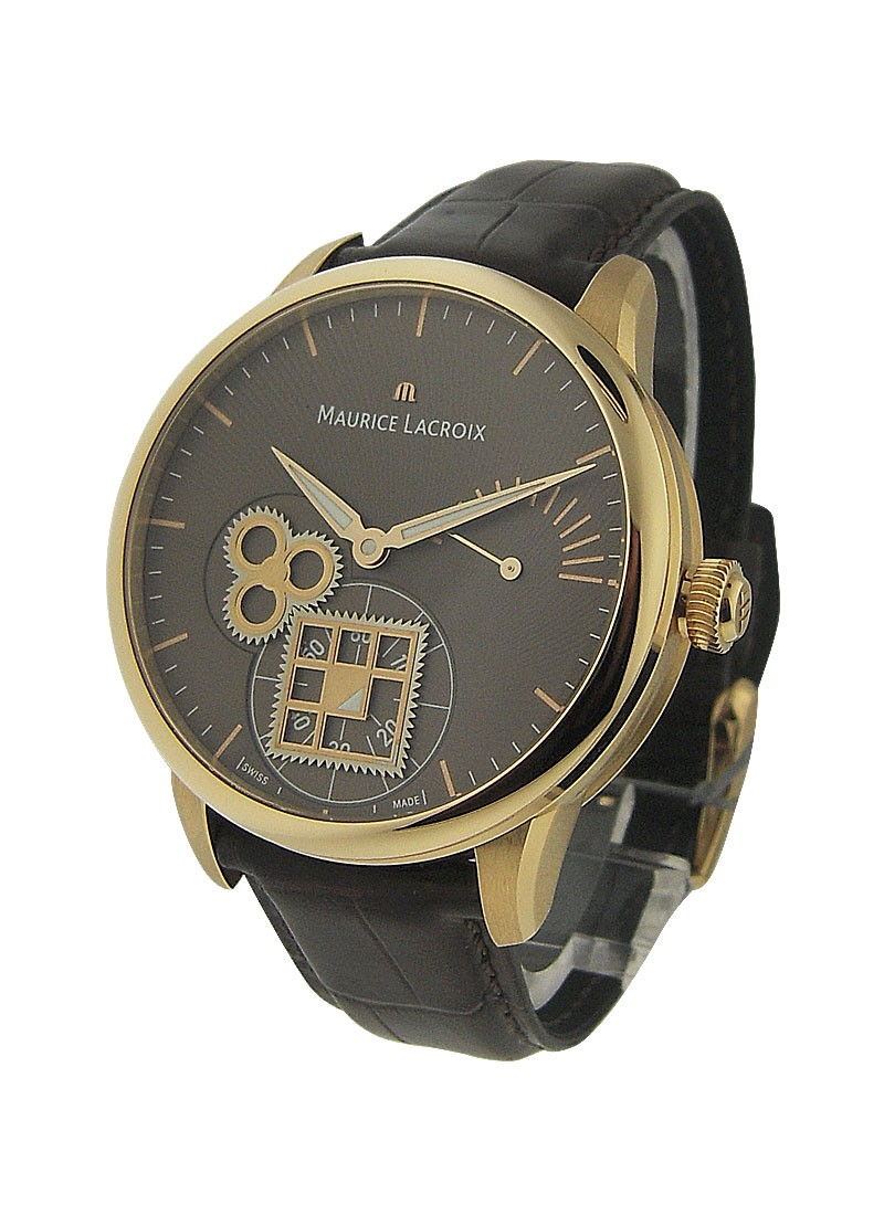Maurice Lacroix Masterpiece Roue Carree Mens Manual in Rose Gold