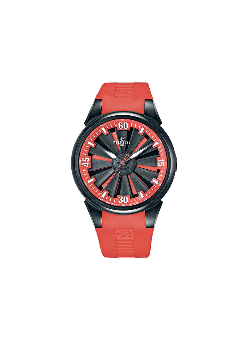 Perrelet Turbine Racing 44nnm Automatic in Stainless Steel with DLC treatment