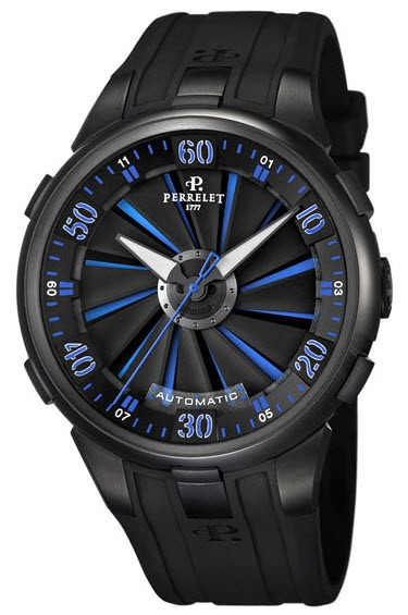 Perrelet  Turbine XL Size Men''''s Automatic   Black DLC Case