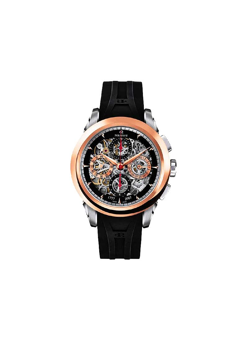 Perrelet Chronograph Skeleton GMT in Rose Gold