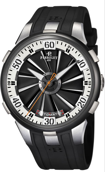 Perrelet  Turbine Black DLC  Men's Automatic in Steel