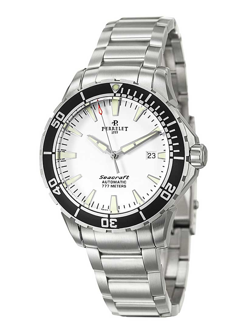 Perrelet Diver Seacraft 3 Hands Date in Men''s Automatic in Steel