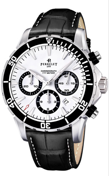 Perrelet Diver Seacraft Chronograph Men's Automatic in Steel