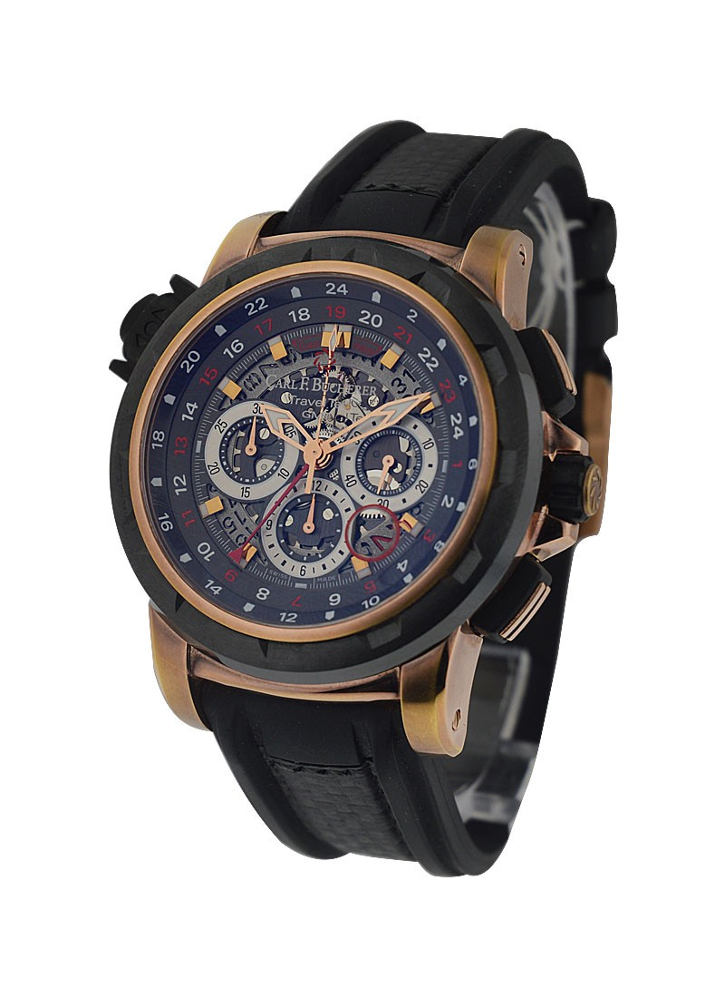 Carl F. Bucherer  Patravi Traveltec FourX  in Rose Gold