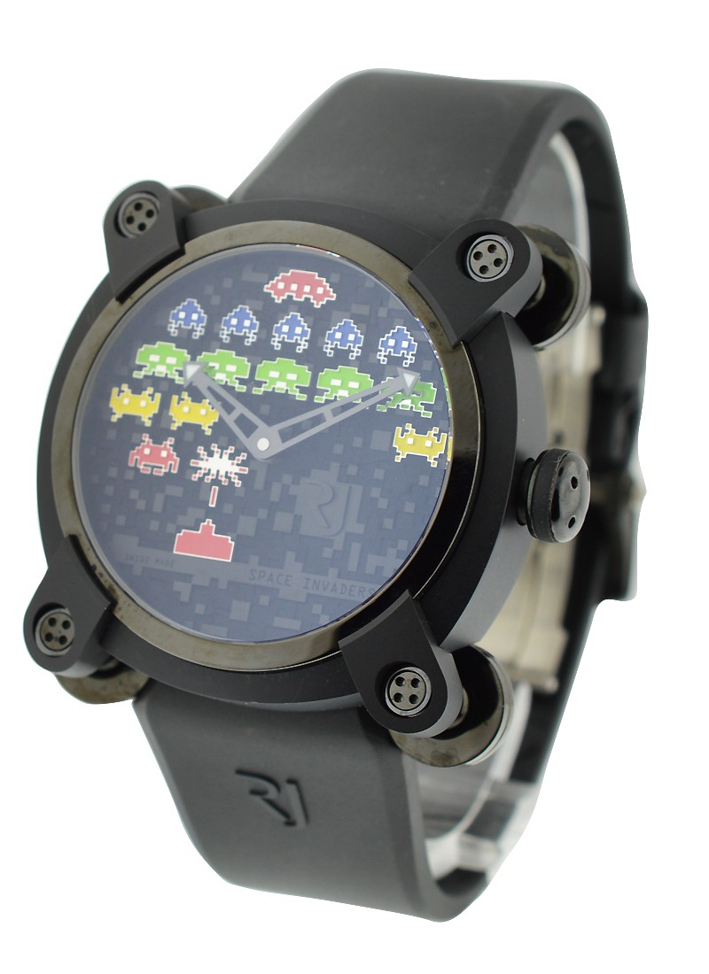 Romain Jerome Moon Invader Space Invaders 46mm in Black PVD - Limited Edition of 78 Pieces
