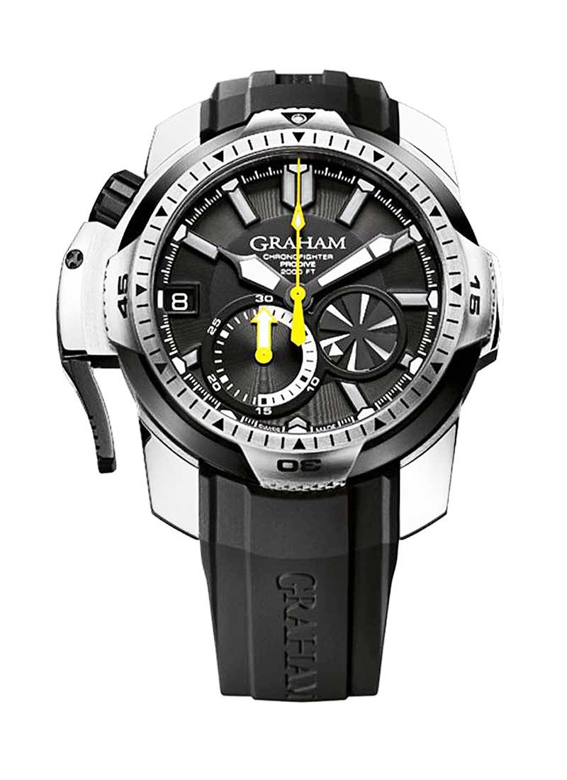 Graham Chronofighter Oversize Prodive Automatic in Steel