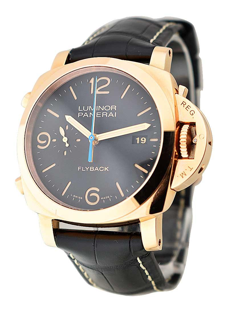 Panerai PAM 525   Luminor 1950 3 Days Chrono Flyback in Rose Gold