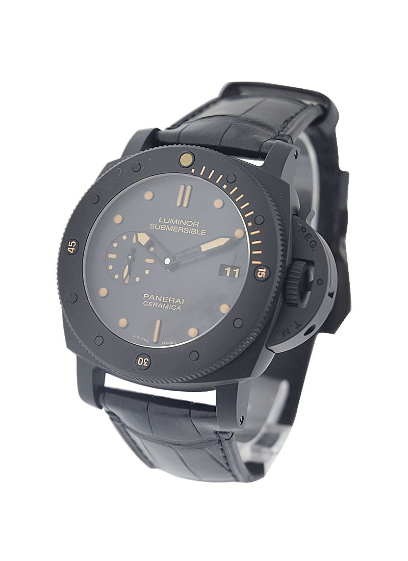 Panerai PAM 508   Luminor Submersible 1950 3 Days in Black Ceramic