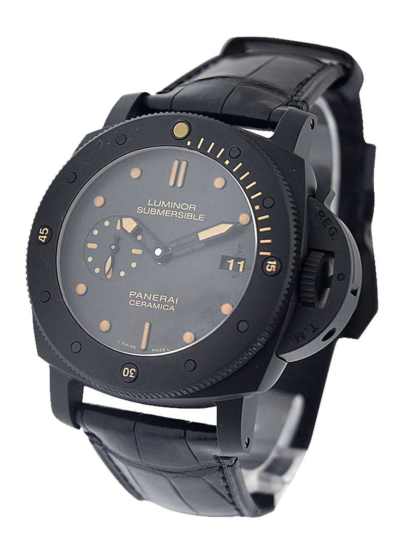 us s black en large pre vintage luminor divers professional owned luxury diver panerai submersible op stainless steel lxrandco watches