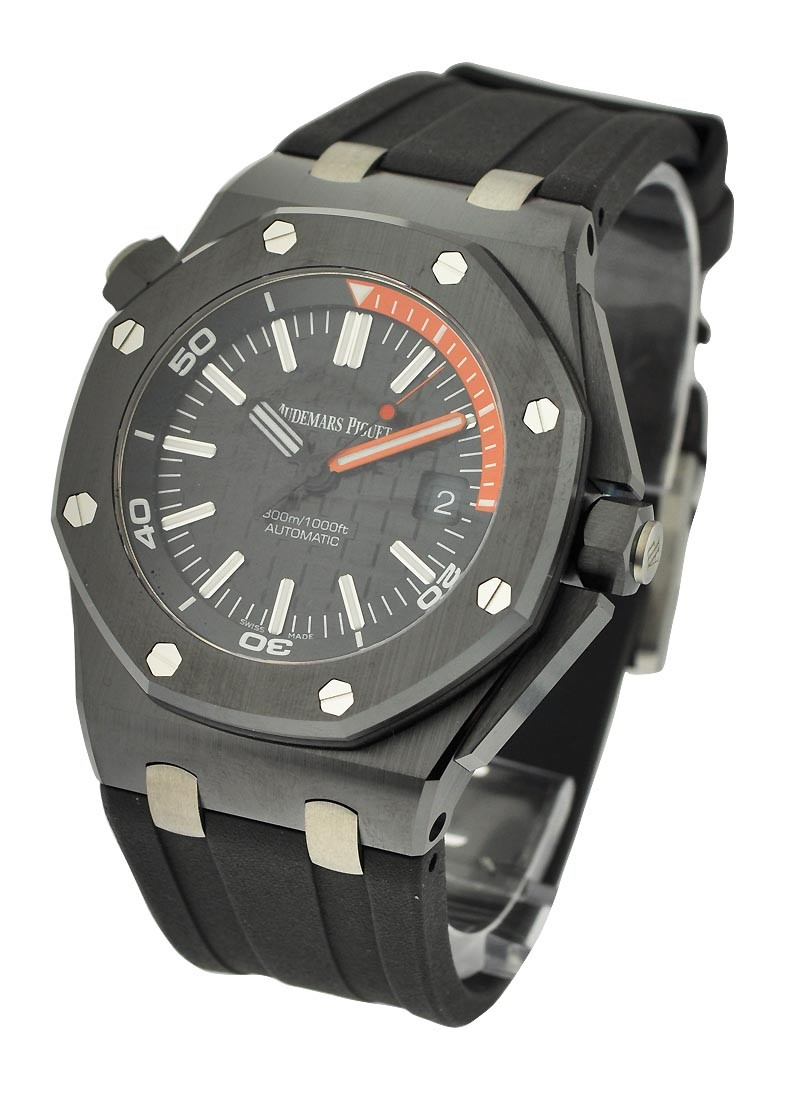 Audemars Piguet Royal Oak Offshore Diver  in Black Ceramic - BTQ ONLY