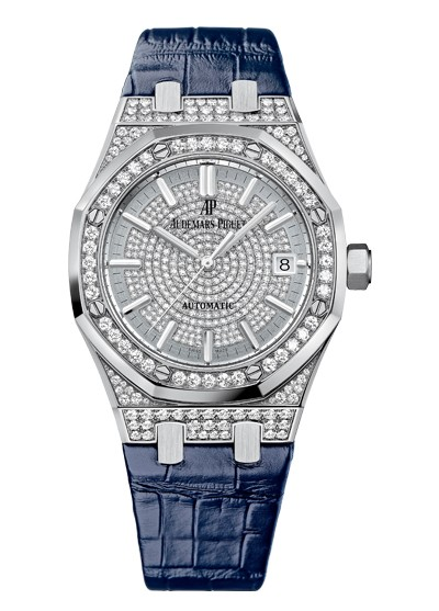 Audemars Piguet Royal Oak in White Gold with Diamond Bezel