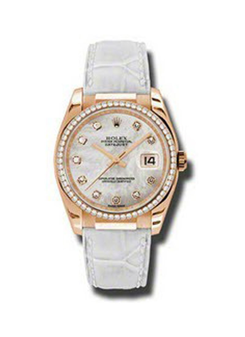 Rolex Unworn Rose Gold 36mm Datejust  Rose Gold   Diamond bezel