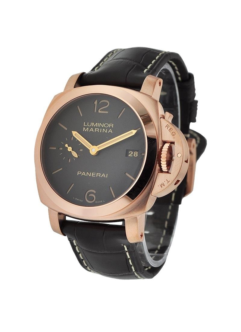 Panerai PAM 393    42mm Luminor 1950 in Rose Gold