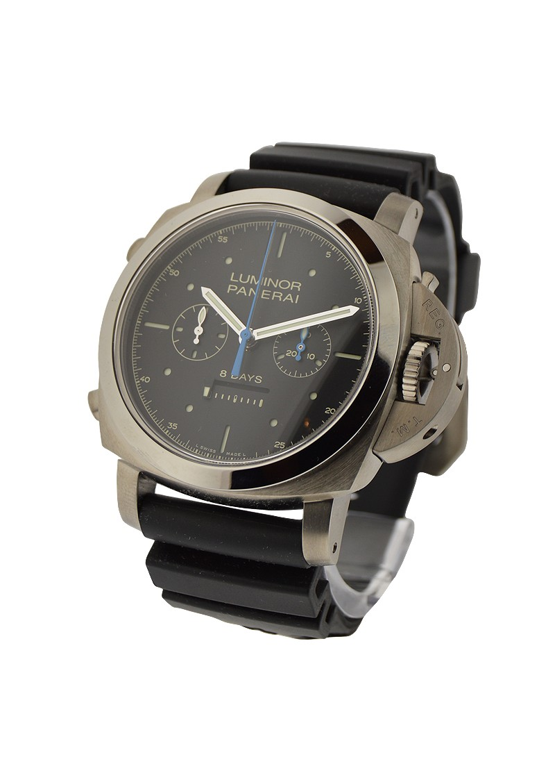 Panerai PAM 427   Luminor 1950 Rattrapante 8 Days in Titanium