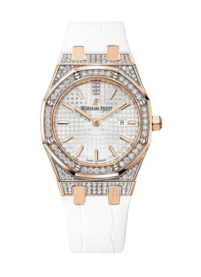 Audemars Piguet Royal Oak in Rose Gold with Diamond Bezel