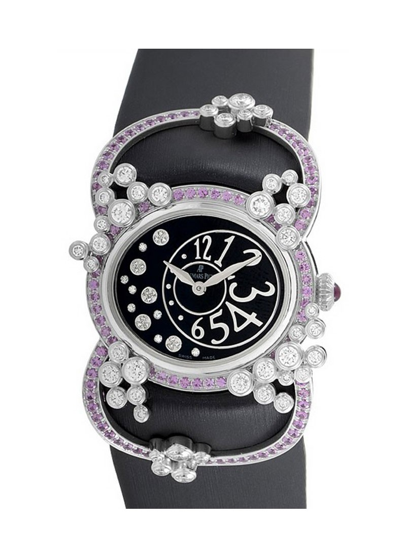 Audemars Piguet  Millenary Precieuse in White Gold with Diamonds & Pink Sapphires