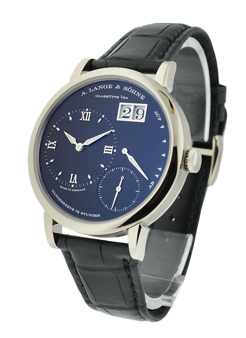 A. Lange & Sohne Grande Lange 1 Mens Manual in White Gold