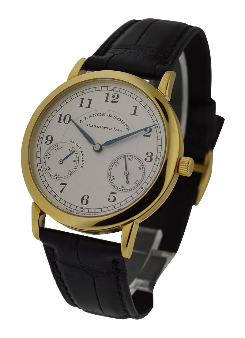 A. Lange & Sohne 1815 Up and Down Mens Manual in Yellow Gold