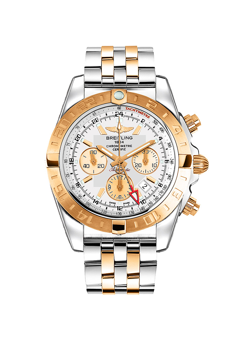 Breitling Chronomat 44 GMT Men's Automatic in Steel with Rose Gold Bezel