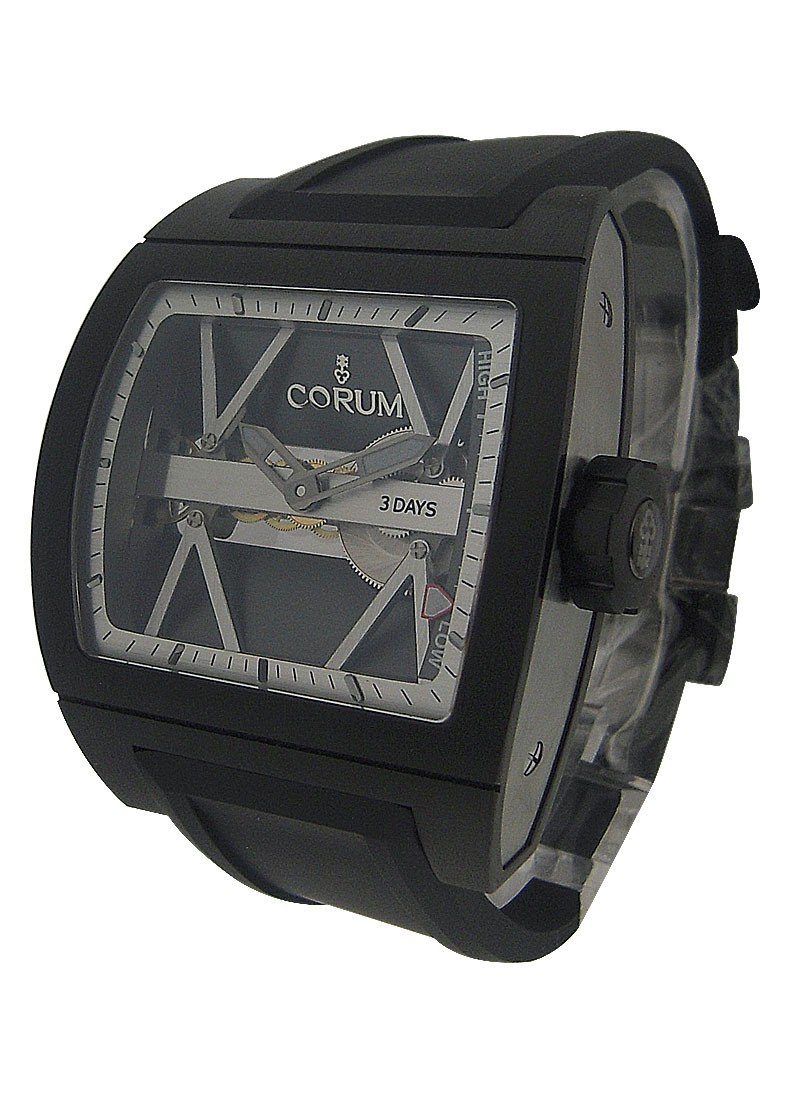Corum Titanium Bridge Power Reserve in Black Titanium