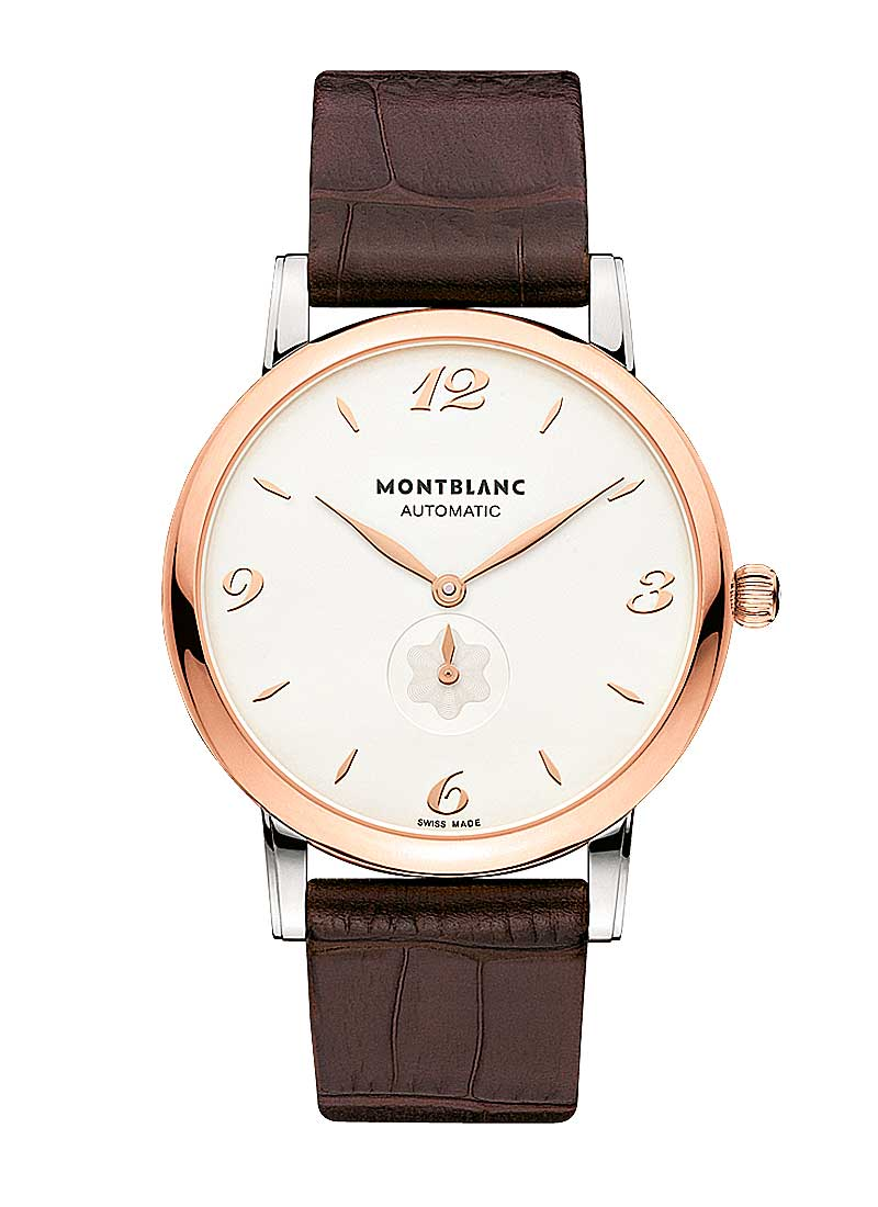 Montblanc Star Classique 39mm Automatic in Steel and Rose Gold