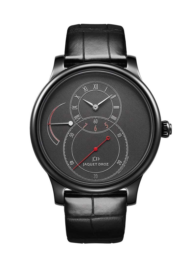 Jaquet Droz Grande Seconde Power Reserve in Black Ceramic