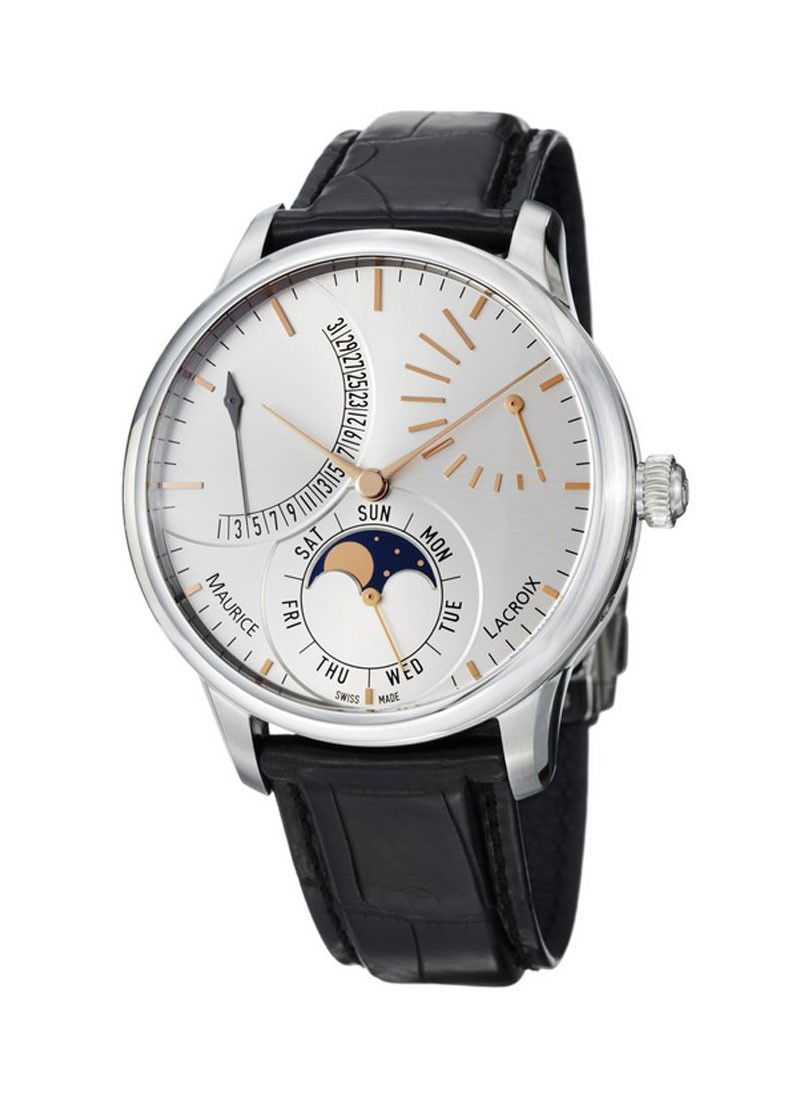 Maurice Lacroix Masterpiece Lune Retrograde Automatic in Steel