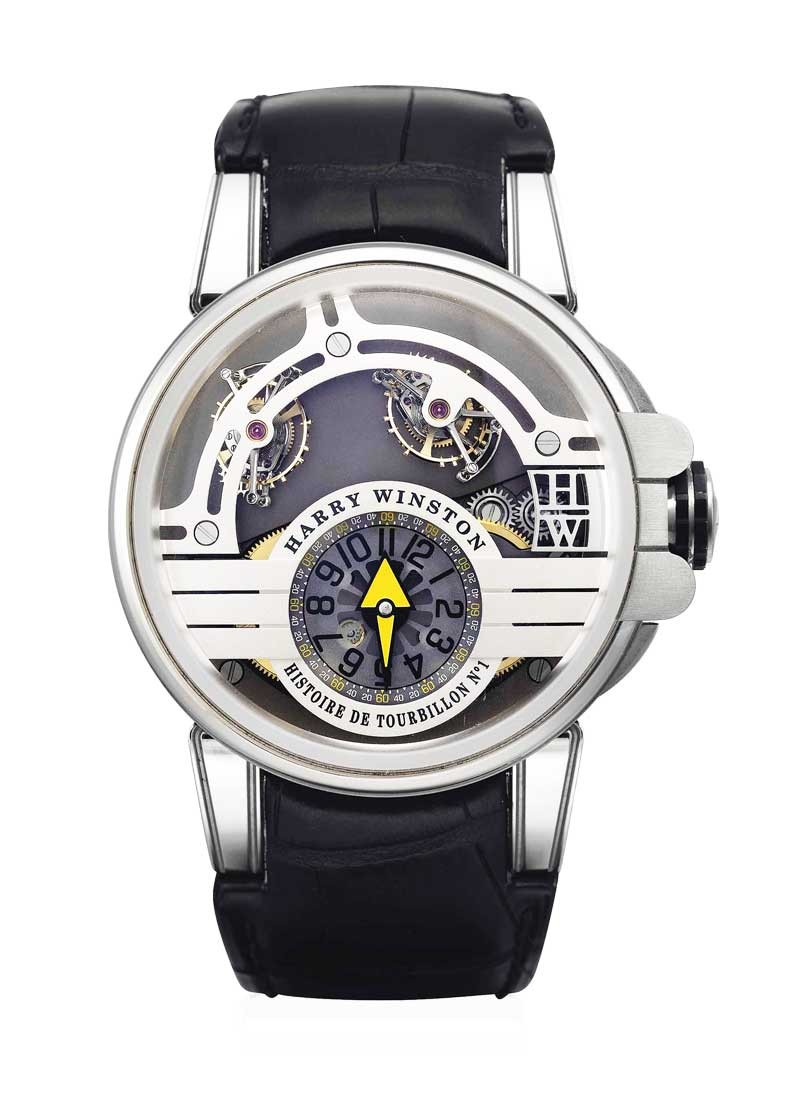 Harry Winston Hostoire de Tourbillon Manual in White Gold and Zalium