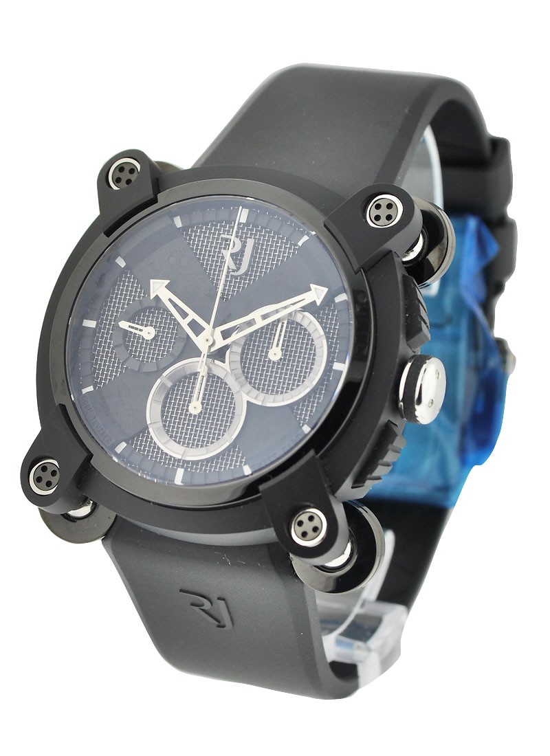 Romain Jerome Moon Invader Speed Metal Chronograph 46mm in Black PVD Steel