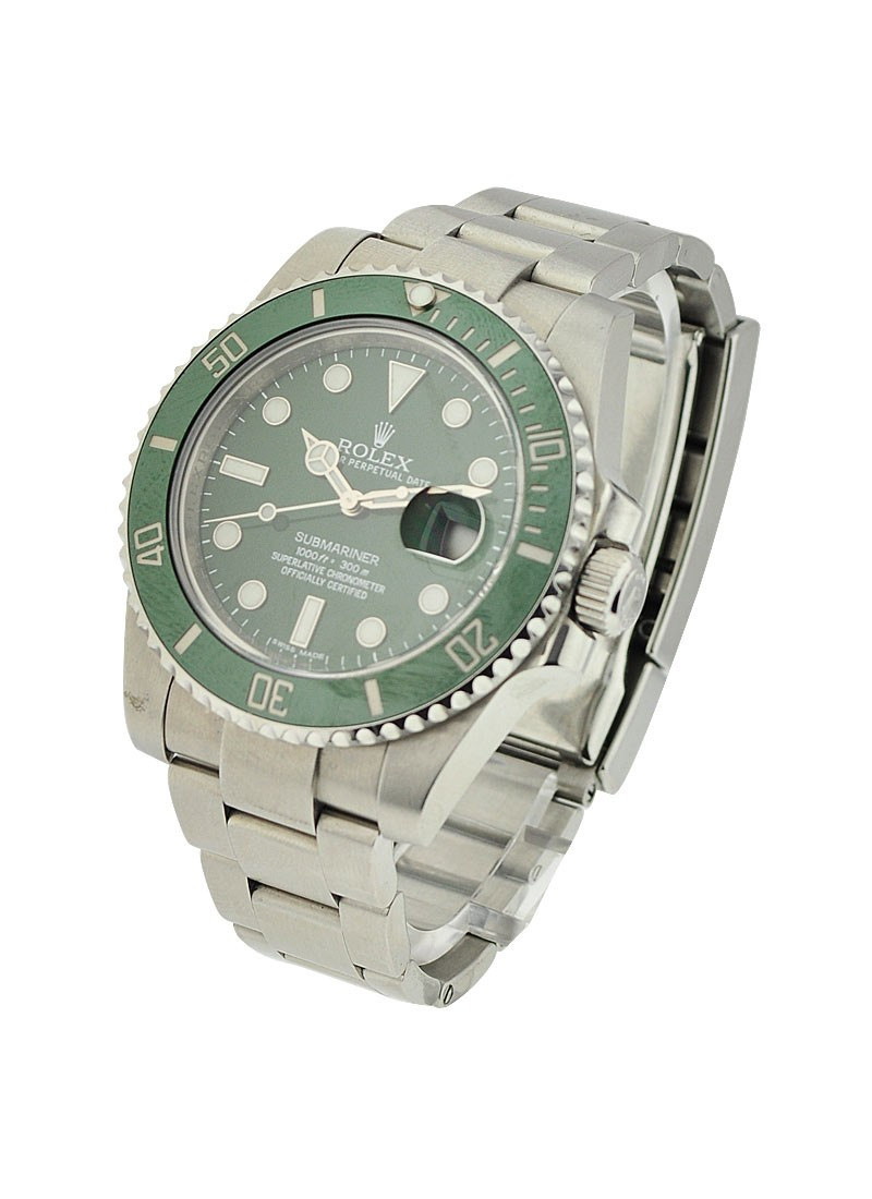 Rolex Used Green Submariner   Green Ceramic Bezel