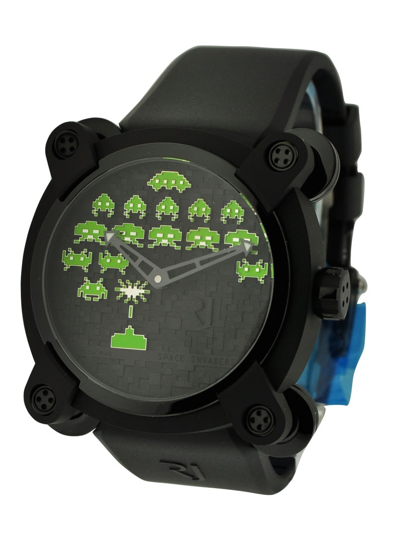 Romain Jerome Invader Space Invaders Green 46mm in Black PVD