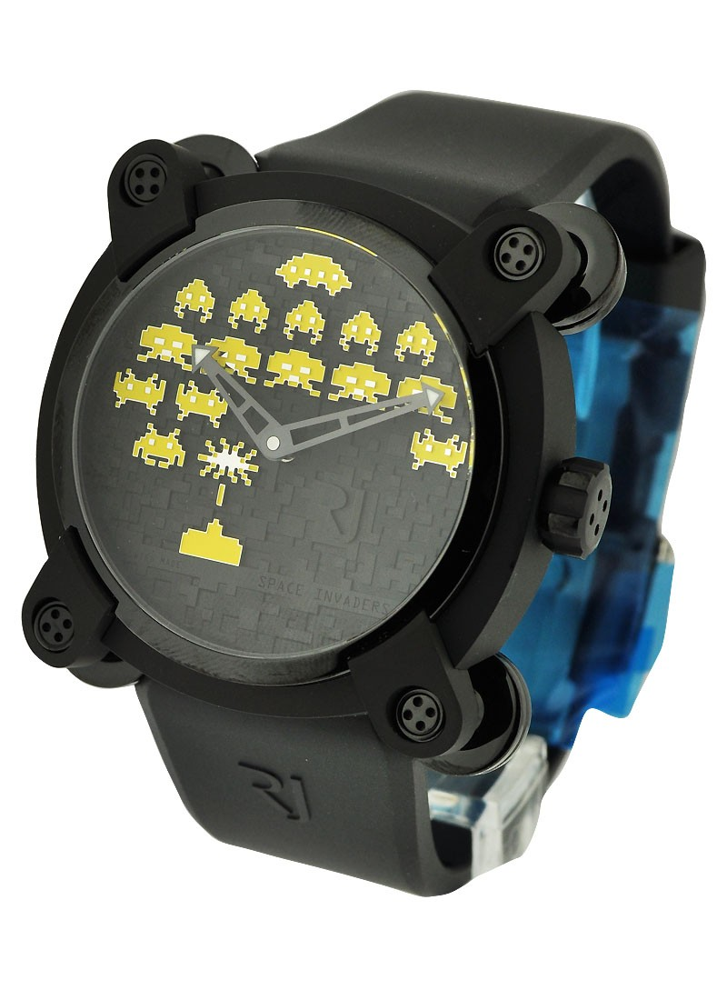 Romain Jerome Invader Space Invaders Yellow 46mm in Black PVD - Limited Edition of 8 Pieces