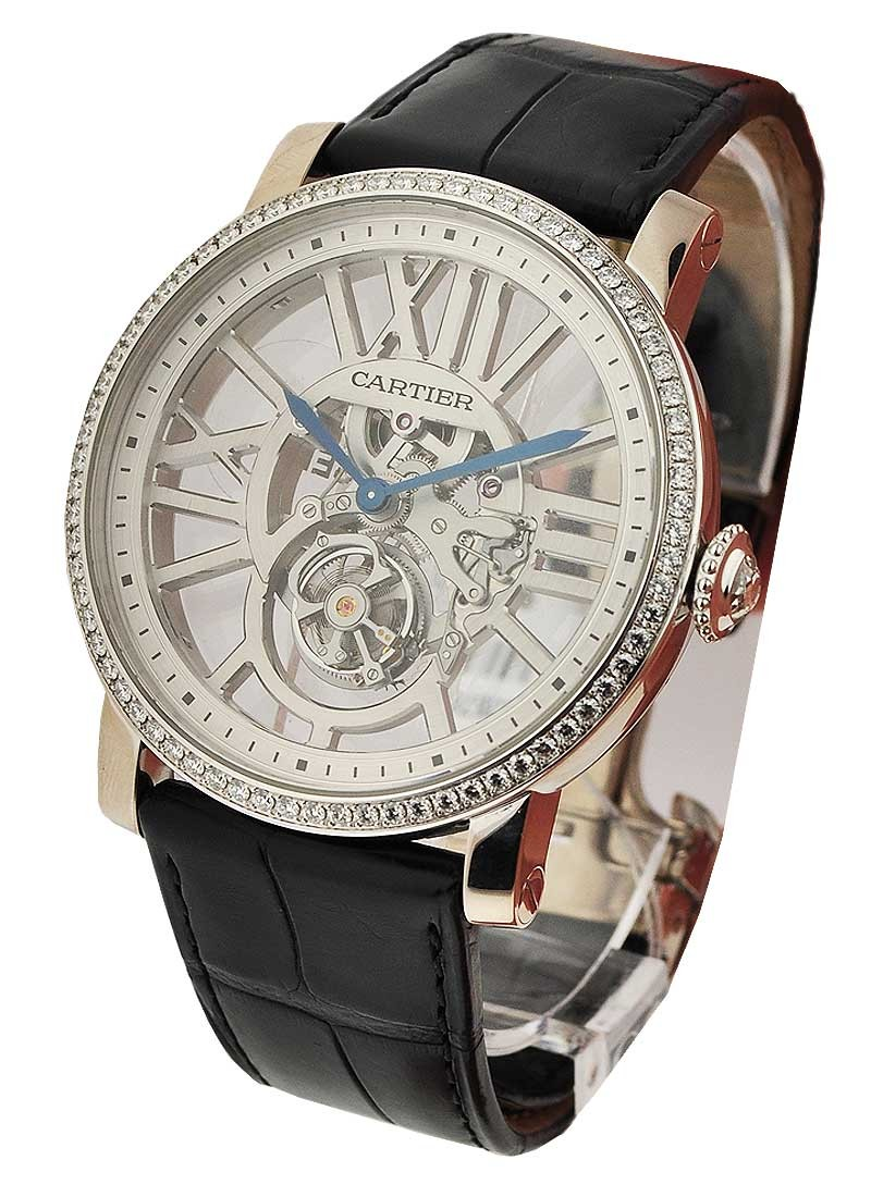 Cartier Rotonde de Cartier Flying Tourbillon with Diamond Bezel