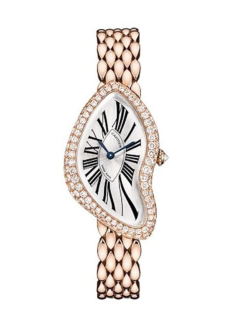 Cartier Crash in Rose Gold with Diamond Bezel