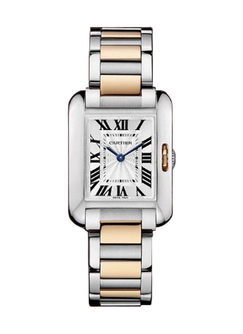 Cartier Tank Anglaise Small in Steel and Rose Gold