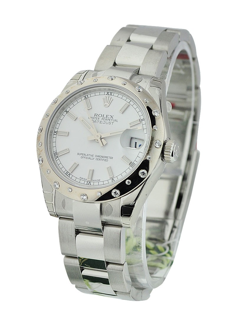 Rolex Unworn Datejust in Steel with 24 Diamond Bezel