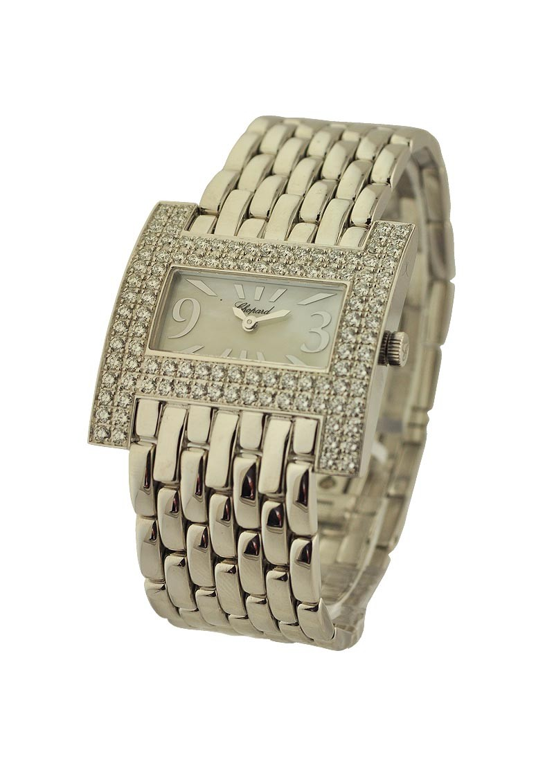 Chopard Rectangle Haute Horlogerie in White Gold with Diamond Bezel