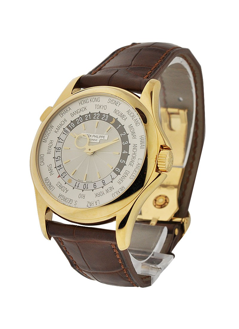 Patek Philippe Ref 5130J 001 World Time in Yellow Gold