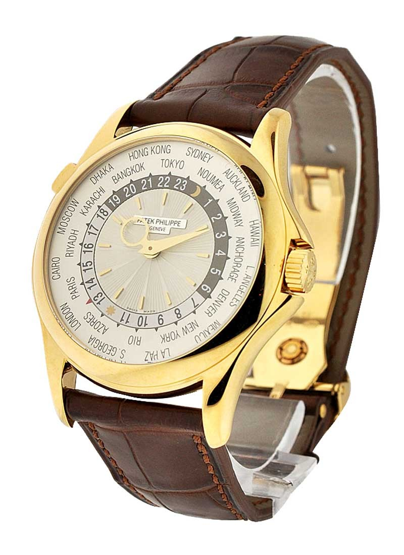 Patek Philippe Ref 5130J-001 World Time in Yellow Gold